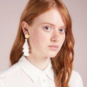 J. Crew Dusty Rose Tiered Tassel Earrings